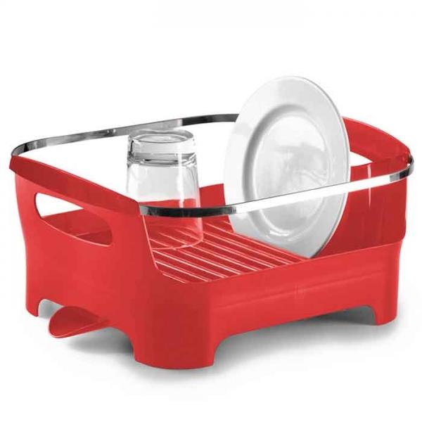 Сушилка для посуды Umbra basin красная