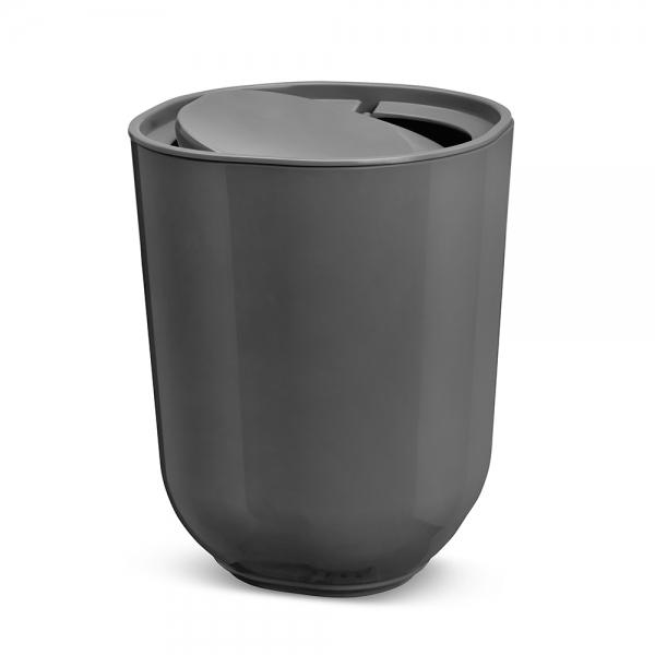 Контейнер мусорный с крышкой step тёмно-серый