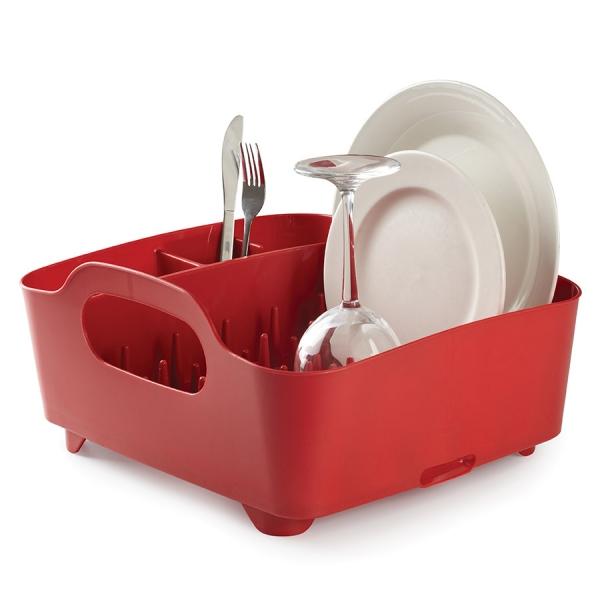Сушилка для посуды Umbra tub красная