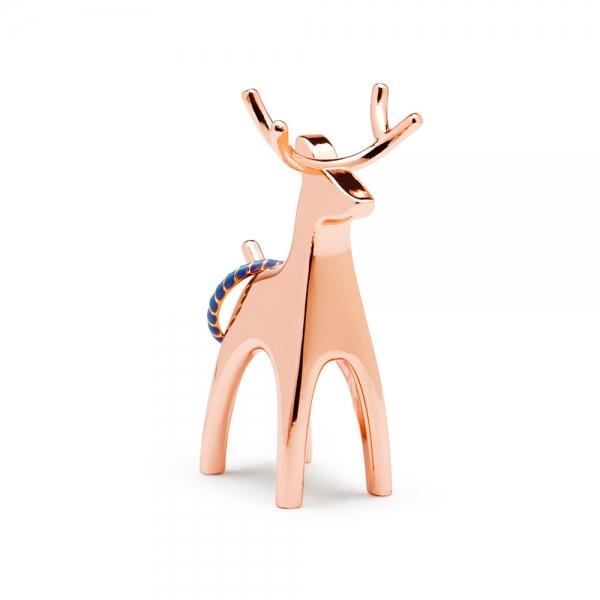 Подставка для колец anigram олень медь