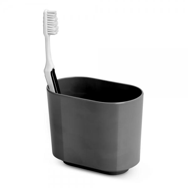Стакан для зубных щёток step тёмно-серый