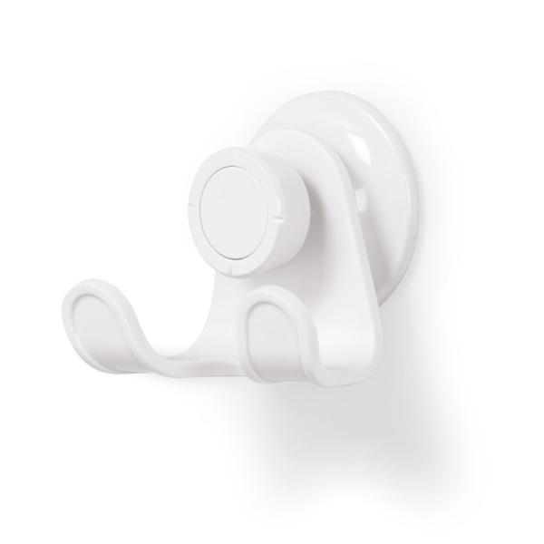 Крючок для душа настенный flex белый