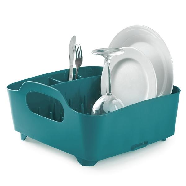 Сушилка для посуды Umbra tub сине-зелёная