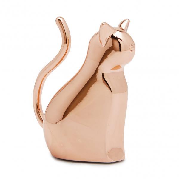 Держатель для колец anigram кот медь