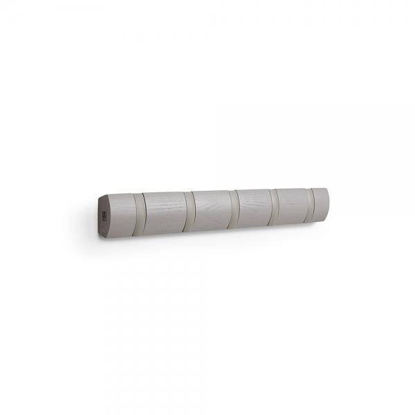 Вешалка настенная оризонтальная flip 5 крючков серая