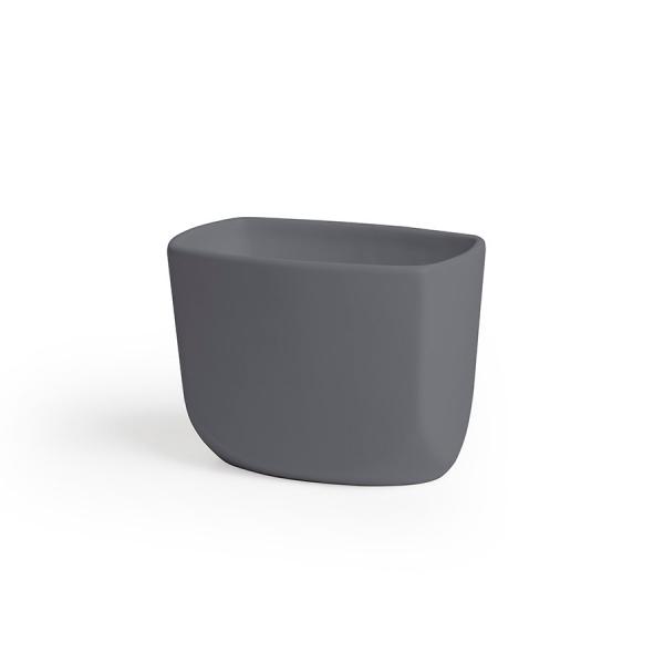 Стакан для зубных щёток corsa тёмно-серый