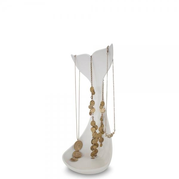 Подставка для ожерелий whale белая