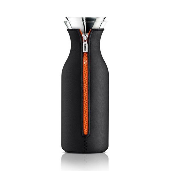Графин fridge в неопреновом чехле 1 л черный/оранжевый