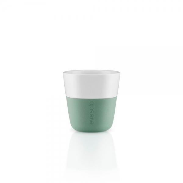 Чашки для эспрессо 2 шт 80 мл лунно-зелёные