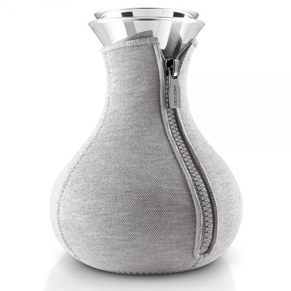 Чайник заварочный tea maker в неопреновом текстурном чехле 1 л светло-серый