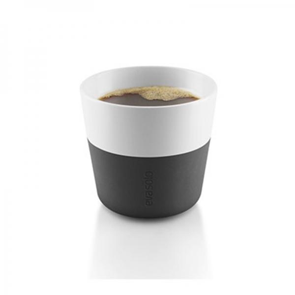Чашки для лунго 2 шт 230 мл чёрные
