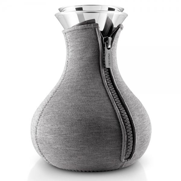 Чайник заварочный tea maker в неопреновом текстурном чехле 1 л темно-серый