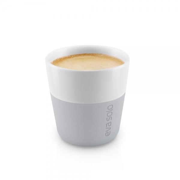 Чашки для эспрессо 2 шт 80 мл серые