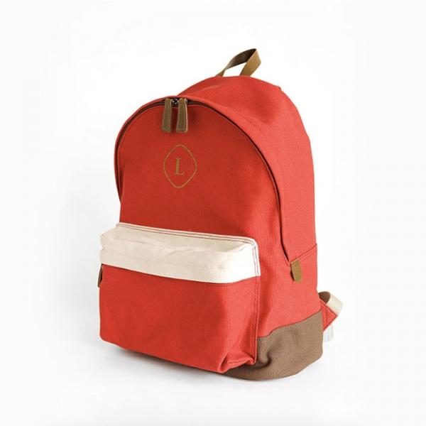 Городской рюкзак Canvas Backpack кирпичный