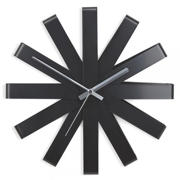 Часы настенные ribbon чёрный