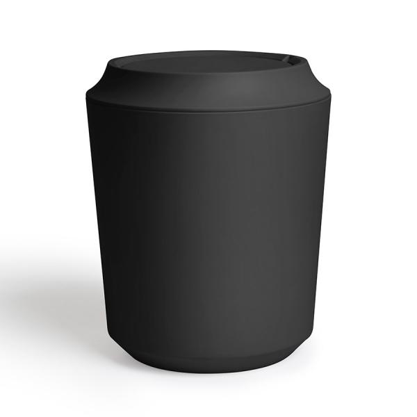 Корзина для мусора с крышкой kera чёрная