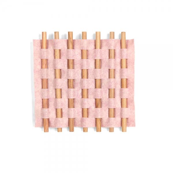 Декор для стен looma 13x12 розовый