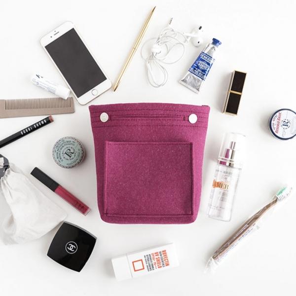 Органайзер для сумки из фетра - малый - сливовый