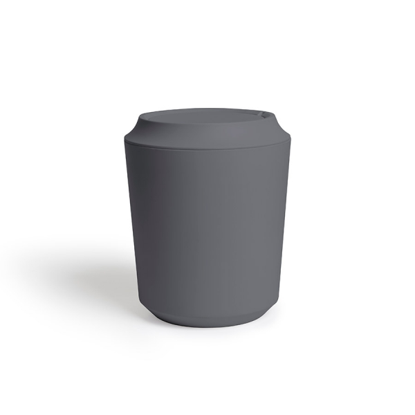 Корзина для мусора с крышкой corsa тёмно-серая
