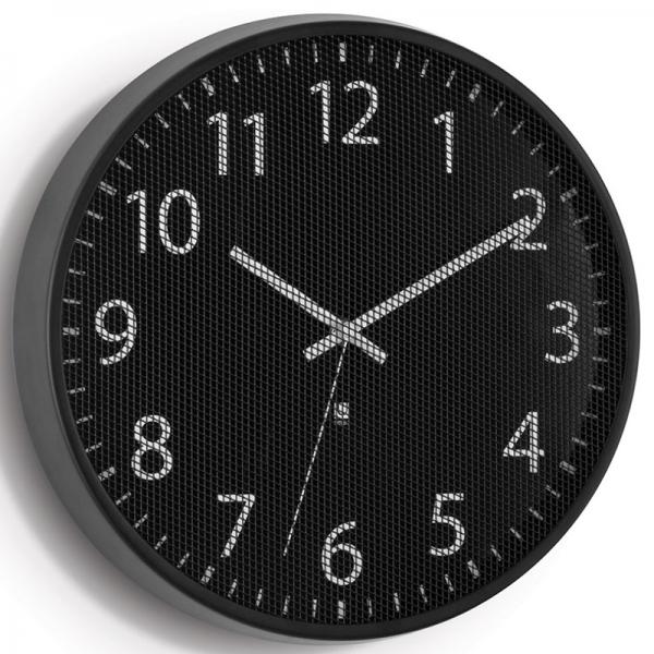 Часы настенные perftime черные