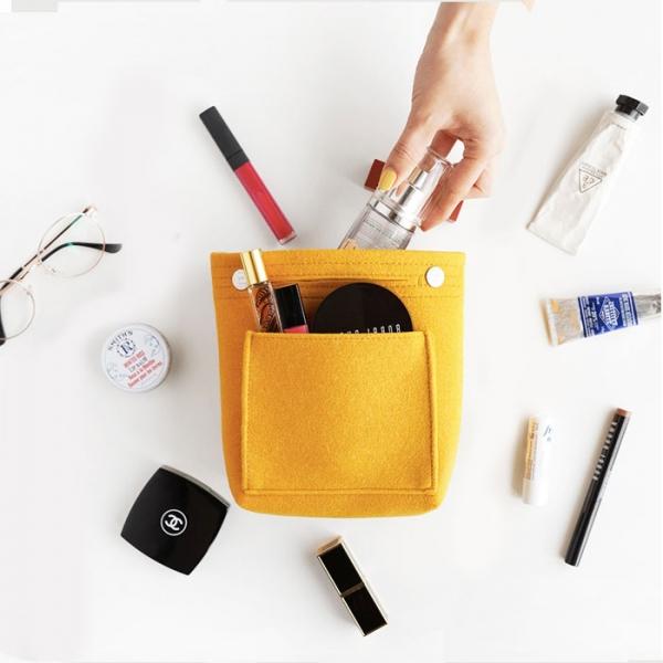Органайзер для сумки из фетра - малый - желтый