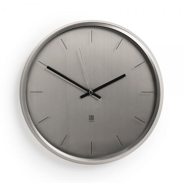 Часы настенные meta никель