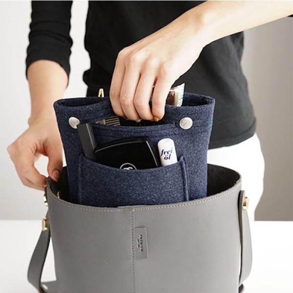 Органайзер для сумки из фетра - малый - синий