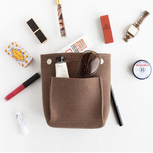 Органайзер для сумки из фетра - малый - коричневый