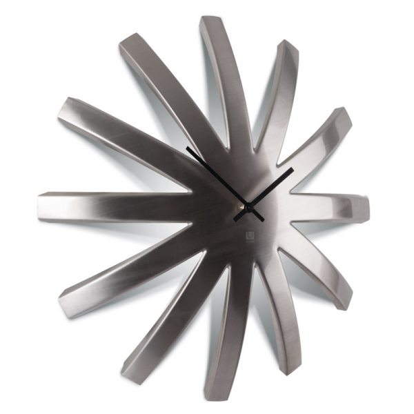 Часы настенные burst никель