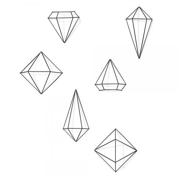 Декор для стен prisma чёрный