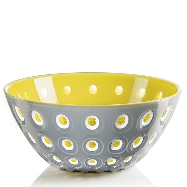 Салатница le murrine 25 см серая/желтая
