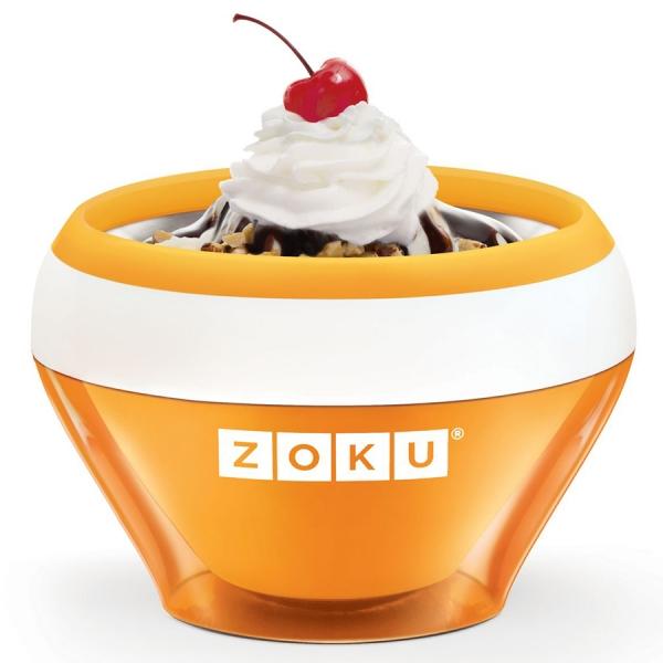 Мороженица ice cream maker оранжевая