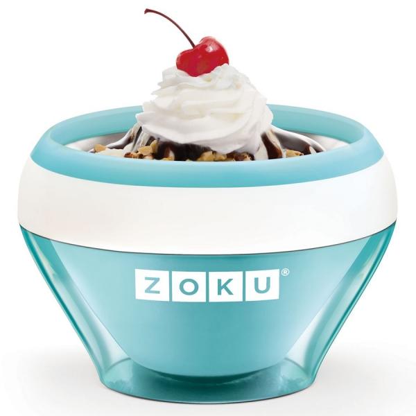 Мороженица ice cream maker голубая