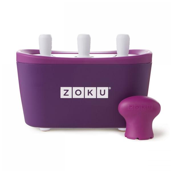 Набор для приготовления мороженого triple quick pop maker фиолетовый