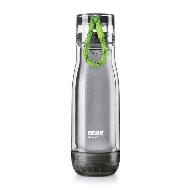 Бутылка zoku active 480 мл зеленая