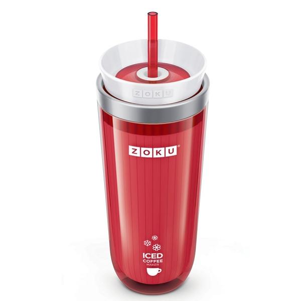 Стакан для охлаждения напитков iced coffee maker красный