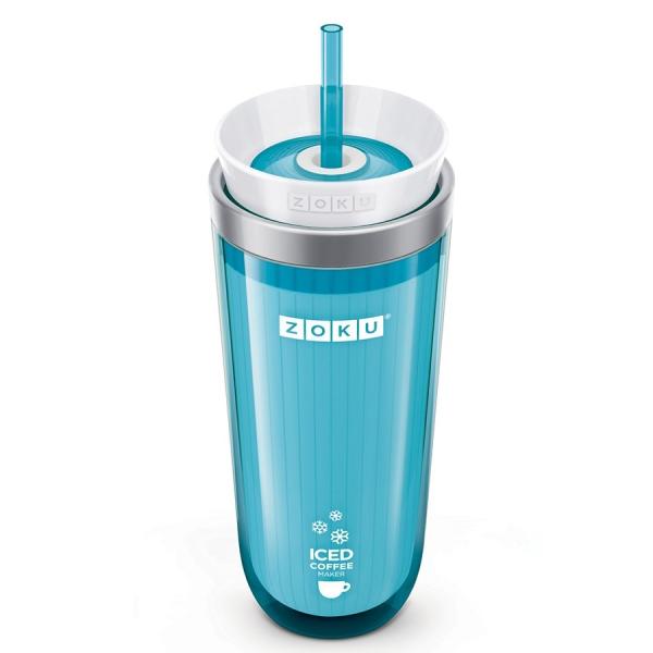 Стакан для охлаждения напитков iced coffee maker голубой