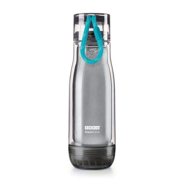 Бутылка zoku active 480 мл голубая