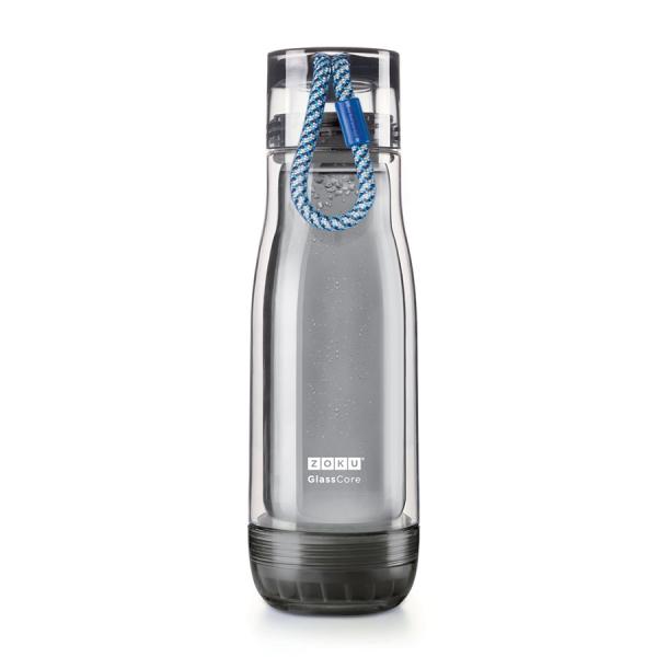 Бутылка zoku active 480 мл синяя