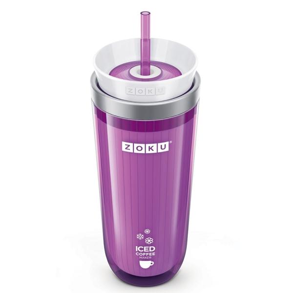 Стакан для охлаждения напитков iced coffee maker фиолетовый