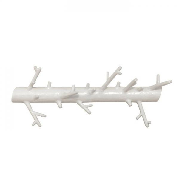 Вешалка универсальная длинная branch белая