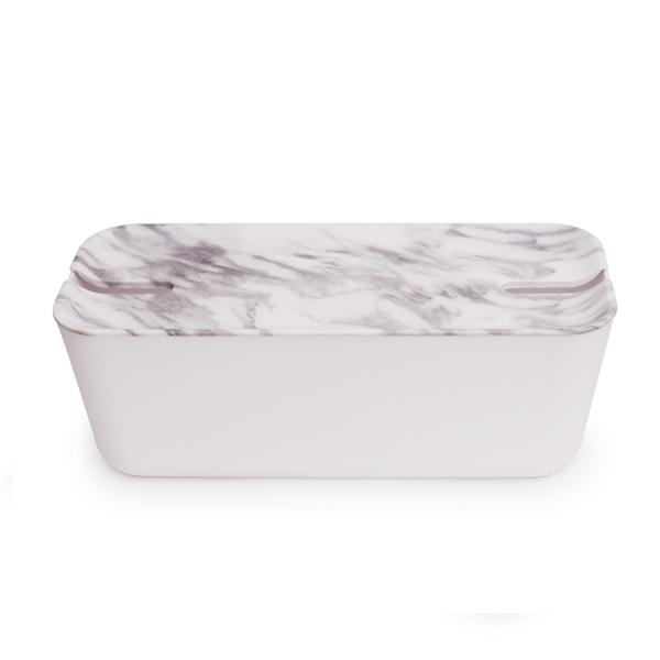 Органайзер для проводов hideaway большой белый/серый