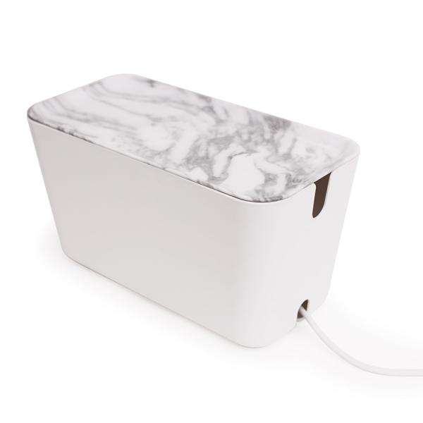 Органайзер для проводов cablebox большой белый/серый