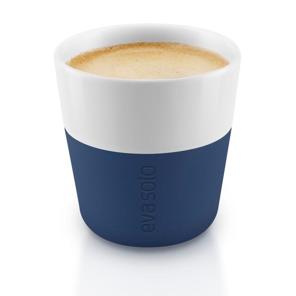 Чашки для эспрессо 2 шт. тёмно-синие