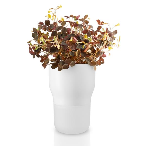Горшок для растений с функцией самополива d9 см белый