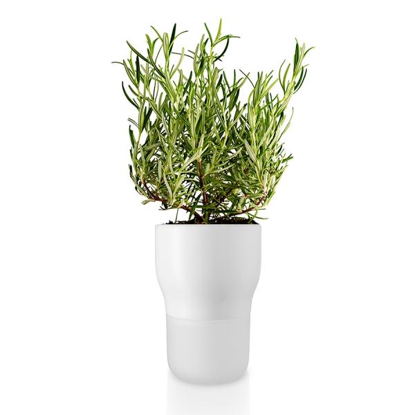 Горшок для растений с функцией самополива d11 см белый