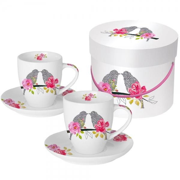 Набор чашек для эспрессо в подарочной коробке love birds 100 мл