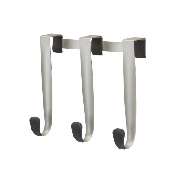 Вешалка надверная schnook 3 крючка черная/никель