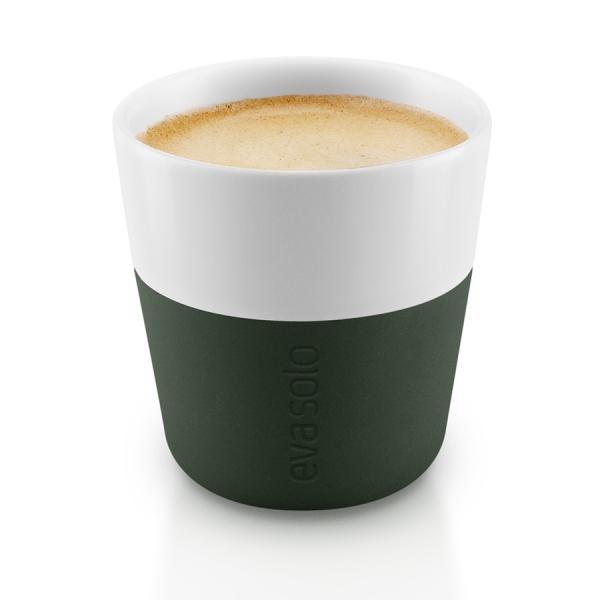 Чашки для эспрессо 2 шт. тёмно-зелёные