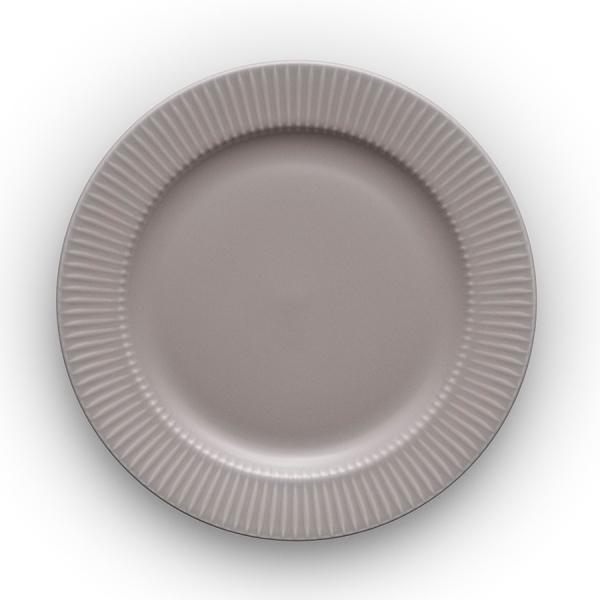 Тарелка круглая legio nova d22 см серая